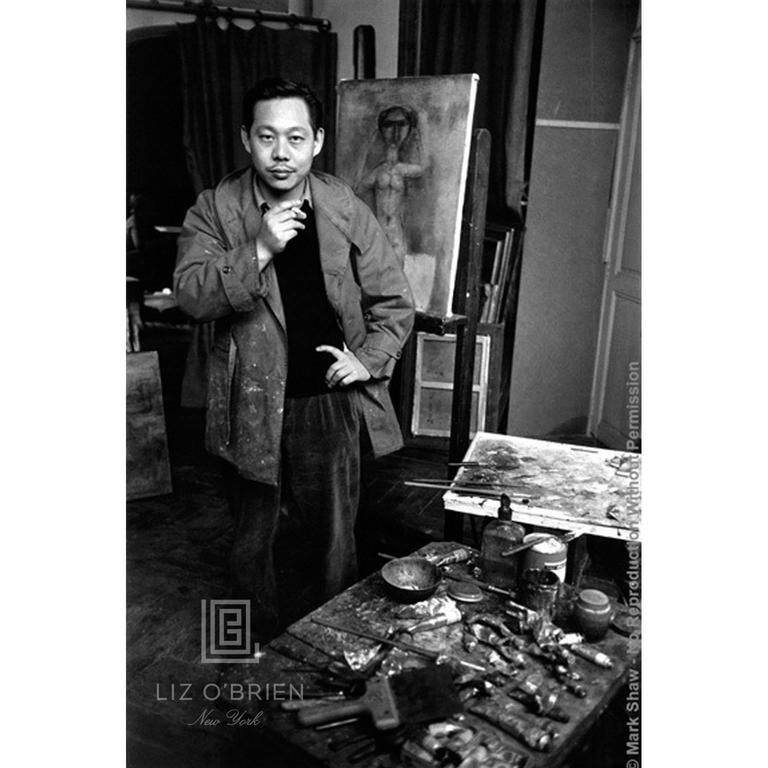 Zao Wou Ki Portrait with Nude Painting, circa 1950.