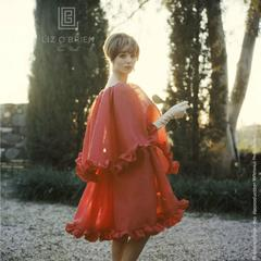 Mark Shaw -  Elsa Martinelli in Red Chiffon, circa 1960