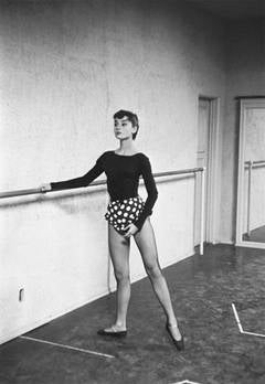 Audrey Hepburn Practicing Ballet