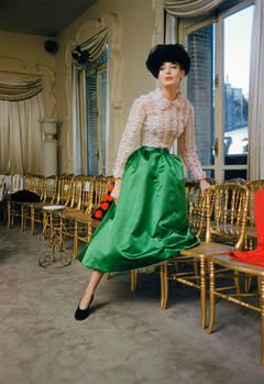 Balenciaga Green Skirt