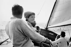 The Kennedy Family Sailing on Nantucket Sound