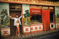 Christine Visits the Boucherie in St. Tropez, 1961