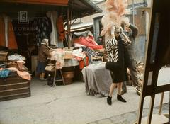 Tiger Morse at the Flea Market, Paris, 1962
