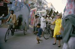 Tiger Morse Street Scene #1, Benares, 1962