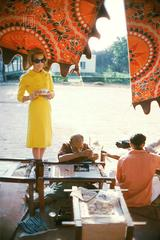 Tiger Morse Drinks Tea, Benares, 1962