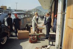 Tiger Morse at the Airport, India, 1962