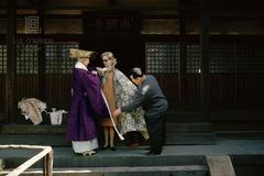 Tiger Morse Visits a Buddhist Temple, Kyoto, 1962