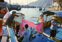Tiger Morse on a Junk #2, Hong Kong, 1962