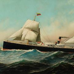 The S.S. Philadelphia at Sea, Homeward Bound