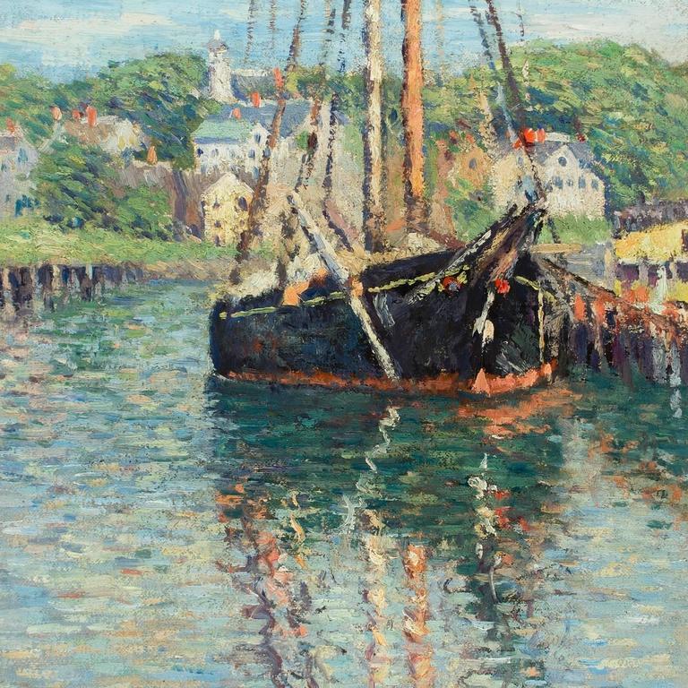 Joseph Eliot Enneking Docked East Gloucester Painting