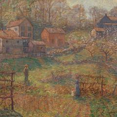 Charles Adams Platt Village On A Dutch Canal Painting
