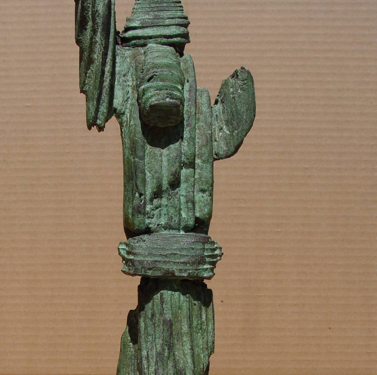 MIRKO BASALDELLA (1910-1969) Totem, c. 1958 Bronze with green patina 13 x 1 5/8 x 1 1/4 inches Unsigned  PROVENANCE  Estate of Gyorgy Kepes  Mirko Basaldella was considered one of the most significant Italian sculptors of the twentieth century. He