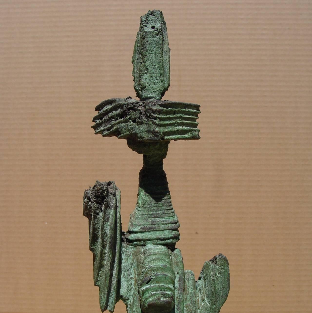 Totem - Brown Abstract Sculpture by Mirko Basaldella