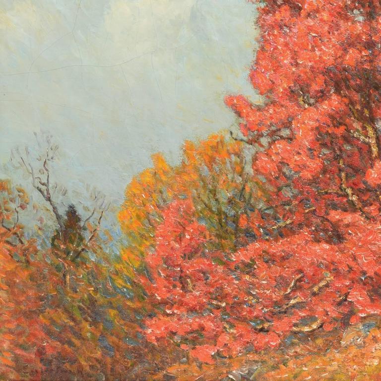 Autumn Landscape - American Impressionist Painting by John Joseph Enneking