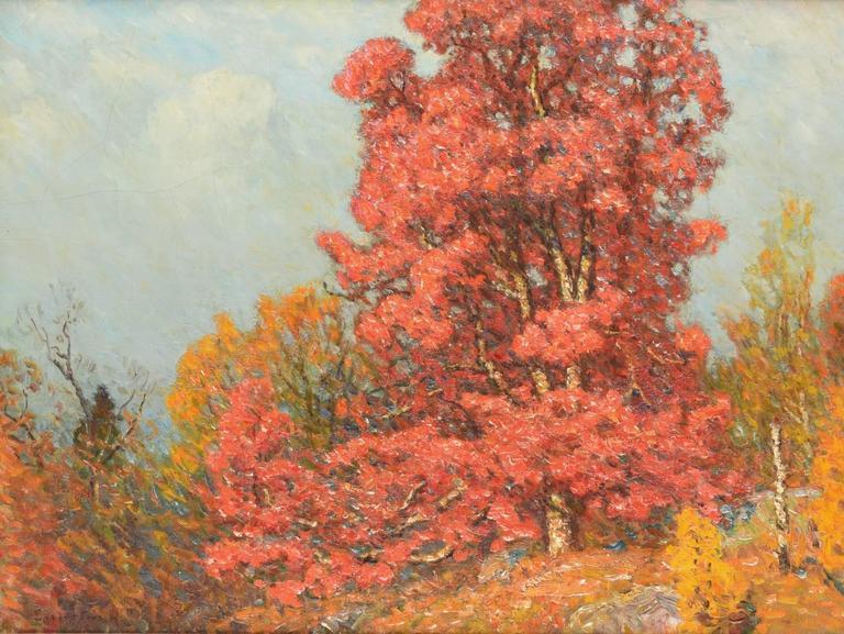 Autumn Landscape - Painting by John Joseph Enneking
