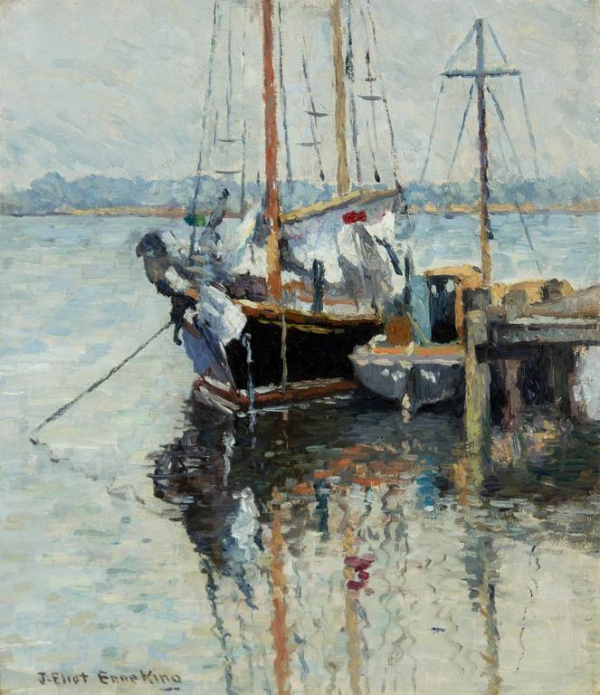 Joseph Eliot Enneking Boats Mystic Connecticut