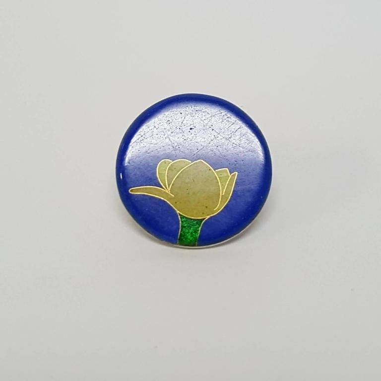 Flower Pin (Tie Tack),  - Modern Sculpture by Robert Kulicke