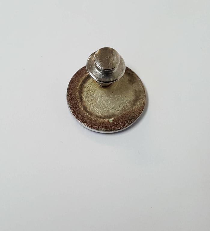 Flower Pin (Tie Tack),  - Silver Still-Life Sculpture by Robert Kulicke