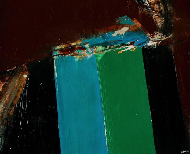 Untitled Abstract - Abstract Expressionist Painting by Budd Hopkins
