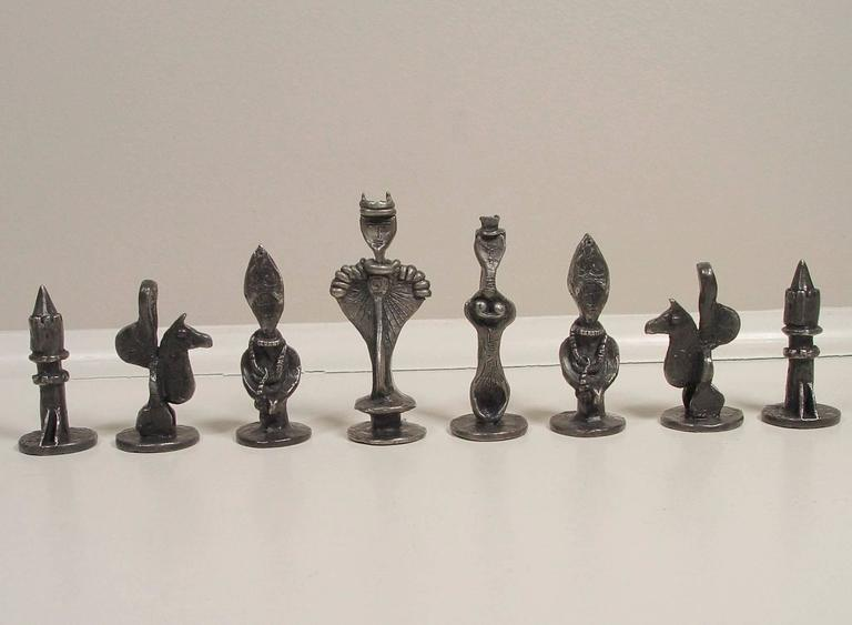 Chess Set - American Modern Sculpture by Dorothy Dehner