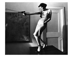 Girl With A Gun (Patti Astor), East Village, 1977