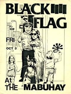Raymond Pettibon Black Flag Flyer (early Raymond Pettibon)