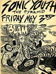 Sonic Youth, Vintage Original Punk Flyer, New York City
