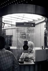 """""""Ticket Lady,"""" Times Square, New York, 1978"""