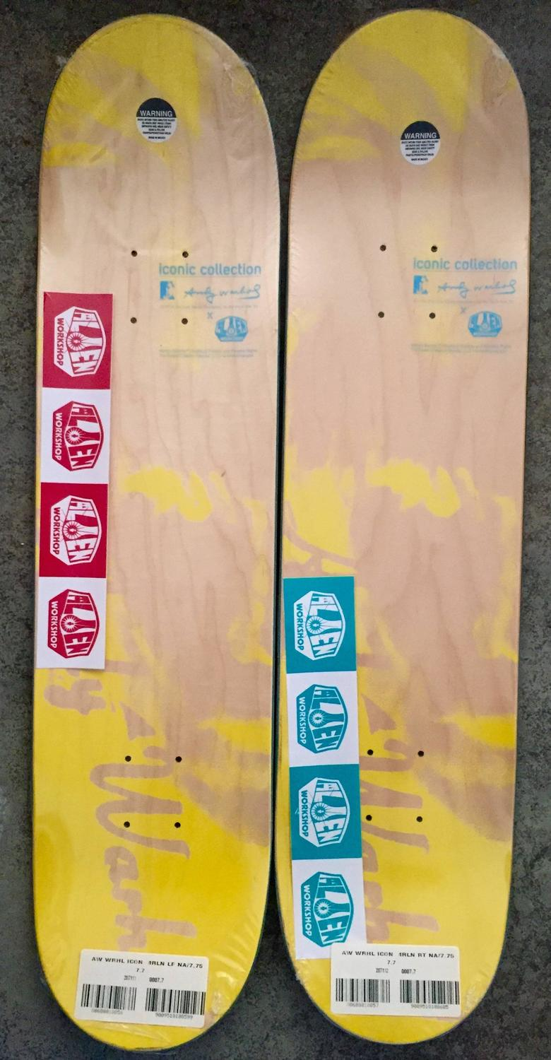 Andy Warhol - Marilyn, A Set of Two Skate Decks at 1stdibs