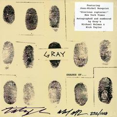 Basquiat, Gray Vinyl Record, Signed