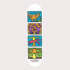 Haring Triple Image Skate Deck