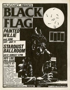 Raymond Pettibon Illustrated Black Flag Flyer