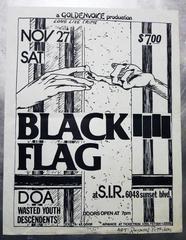 Original Raymond Pettibon Black Flag Flyer