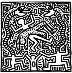 Vintage Keith Haring Record Art