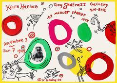 Rare Keith Haring Tony Shafrazi Exhibit Poster