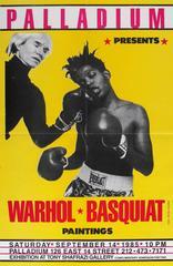 Basquiat & Warhol 'Paintings' Exhibit Poster, Palladium, Shafrazi