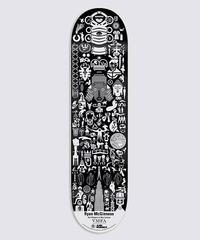 Ryan McGinness Geometric Skate Art (Silver)