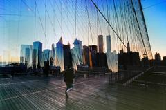 New York Brooklyn Bridge Photograph 1995
