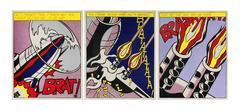 Roy Lichtenstein - As I Opened Fire, A Set of Three Posters (After Roy Lichtenstein)