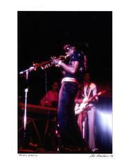 Miles Davis photograph Detroit 1972 (photographer Leni Sinclair)