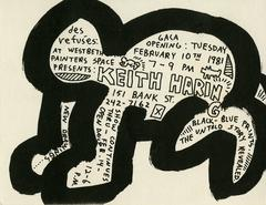 Exhibit Announcement for Keith Haring's First NY Solo Show