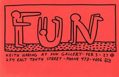 "Original Exhibit Invitation for ""Keith Haring at Fun Gallery"" New York"