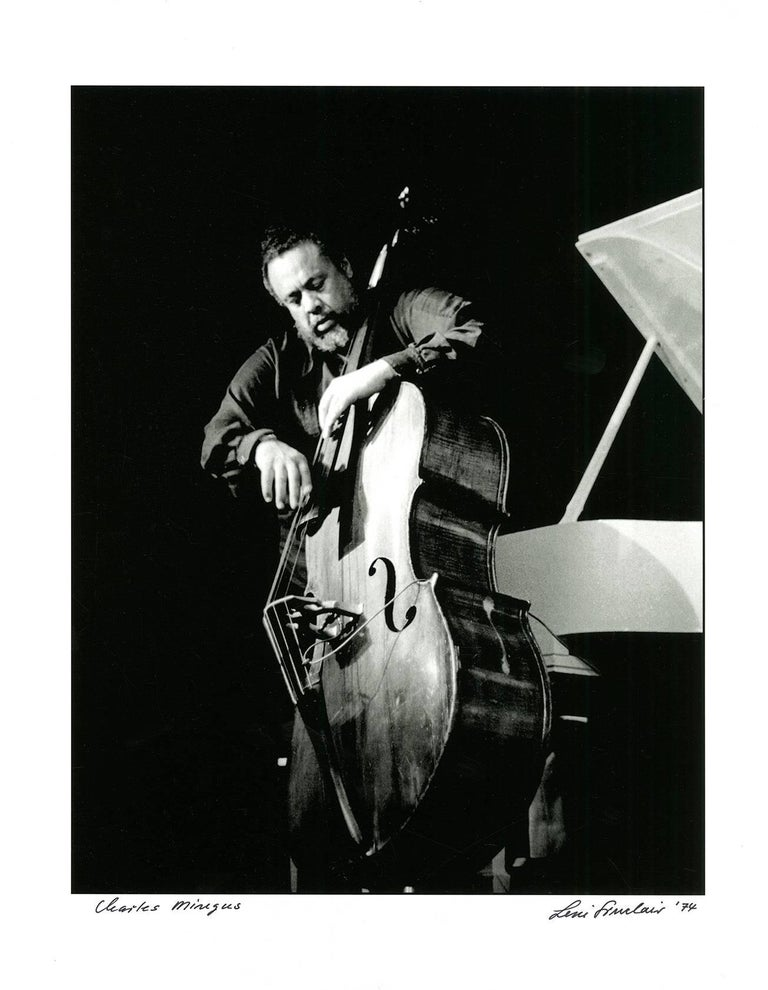Leni Sinclair Black and White Photograph - Charles Mingus, Detroit 1974 (jazz photography)