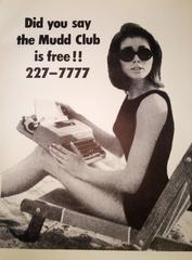 the Mudd Club, original 1979 street poster (Haring Basquiat related)