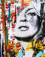 Kate Moss Street Art Photo, New York, NY