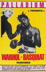 Jean-Michel Basquiat & Andy Warhol 'Paintings' Exhibit Poster