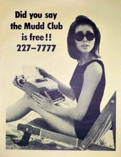 The Mudd Club, original club poster (Haring, Basquiat related)