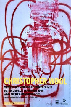 Christopher Wool exhibition poster