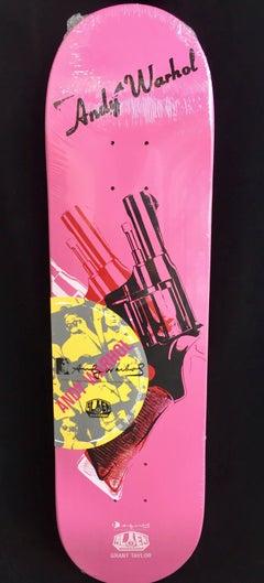 Andy Warhol Gun Skateboard Deck (Warhol Death and Disaster)