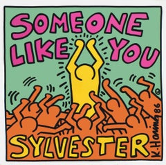 Vintage Keith Haring Record Cover Art